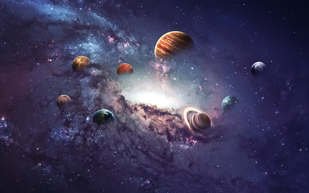 High resolution images presents creating planets of the solar system.
