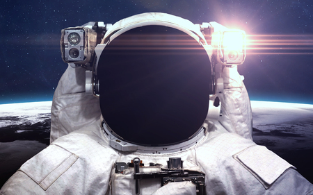 Astronaut in outer space. Spacewalk.