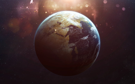 Foto de View of earth from space. Elements of this image furnished by NASA - Imagen libre de derechos
