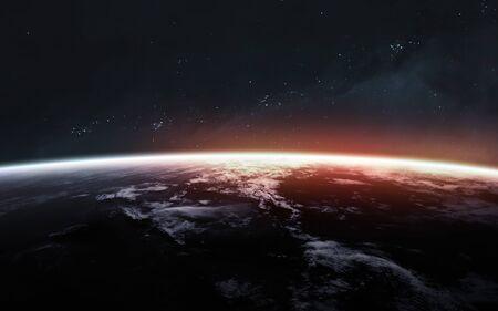 Photo pour Earth planet. Science fiction art. - image libre de droit