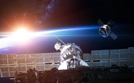 Foto de Space station view to Earth - Imagen libre de derechos