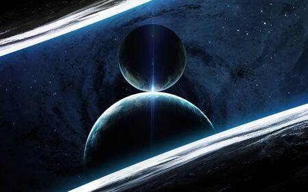 Foto de Universe scene with planets - Imagen libre de derechos