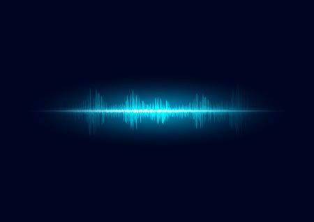 Photo pour line soundwave abstract background with voice music technology - image libre de droit