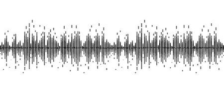 Illustration pour line soundwave abstract background with voice music technology - image libre de droit
