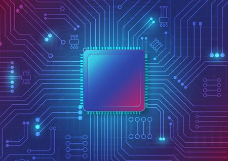 Illustration pour Circuit board technology background with hi-tech digital data connection system and computer electronic desing - image libre de droit