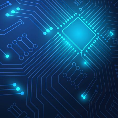 Circuit board technology background with hi-tech digital data connection system and computer electronic desing