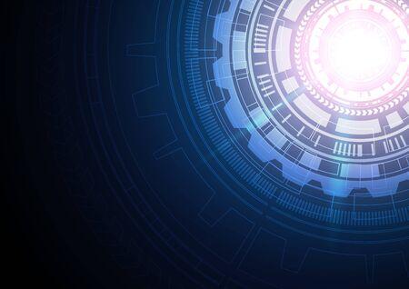 Illustration pour Circuit technology background with hi-tech digital data connection system and computer electronic desing - image libre de droit