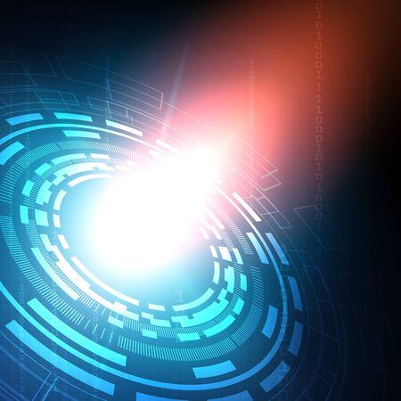 Photo pour Circuit technology background with hi-tech digital data connection system and computer electronic desing - image libre de droit