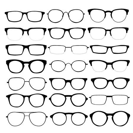 Illustration pour set of different glasses on white background. - image libre de droit