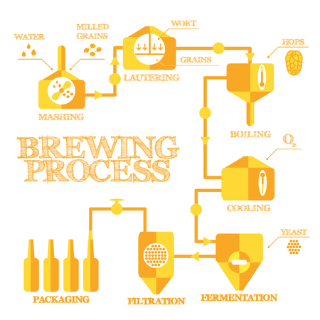 Brewery Steps Beer Brewing Process Elements Alcohol