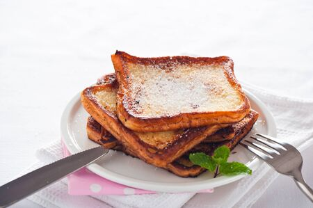 Easy dessert - french toast - arme ritter