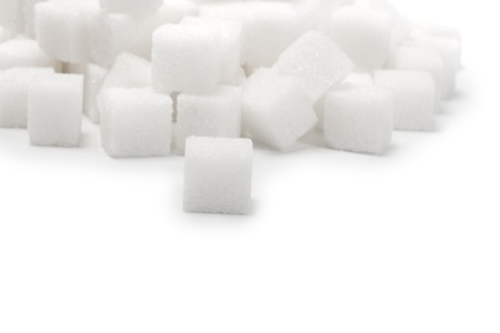 lump sugar pile isolated