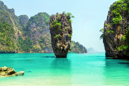 Foto per Thailand James Bond stone Island, Phang Nga - Immagine Royalty Free