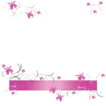 Floral pattern of pink flowers vector