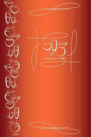 Cover of wine card menu