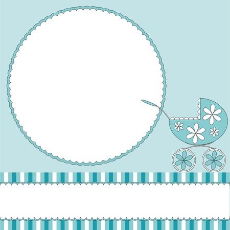Illustration pour Babies boy blue background  - image libre de droit
