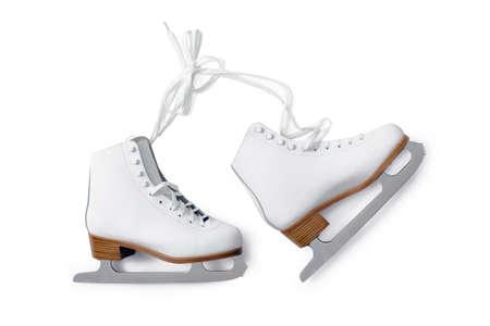 white ice-skating shouse isolated on white background