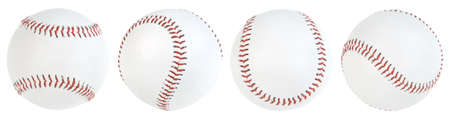 Four baseball ball isolated. pathsの写真素材