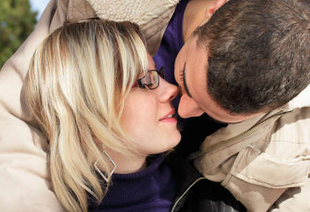 Just a kiss - couple in love