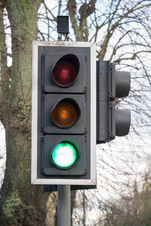 Green light on traffic light