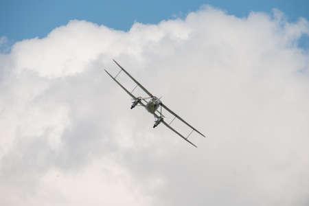 1930's Vintage, British De Havilland DH89 Dominie biplane.