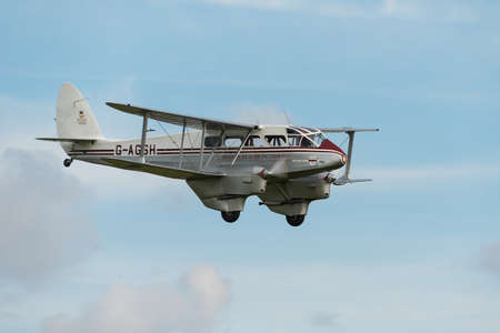 Biggleswade UK - 5th October, 2014: De Havilland Dragon Rapide vintage aircraft at the Shuttleworth Collection airshow