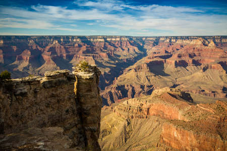 view from the south rim over the grand canyon