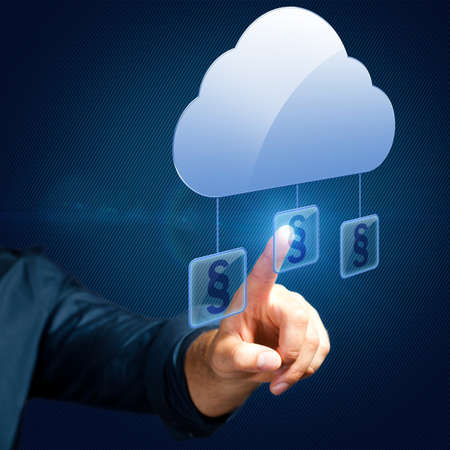 hand selects an paragraph article related to the cloud
