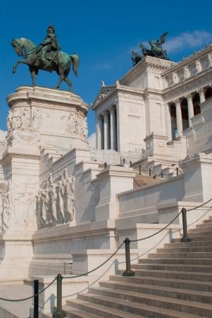 Victor Emmanuel II monument, is an enourmus building in Piazza Venezia, Rome, Italy