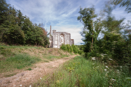 Old church and abbey ruins in the Loire Valley, France, Les Roches tranchelion