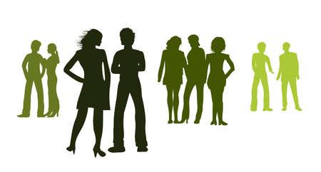 Silhouetten - Gruppen von Menschen