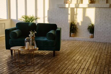 Photo pour Scandy interior in modern studio - image libre de droit