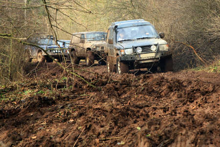 Off-road 4x4 lifestyle and hobby  Blur motion