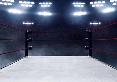 Photo pour Professional boxing ring - image libre de droit