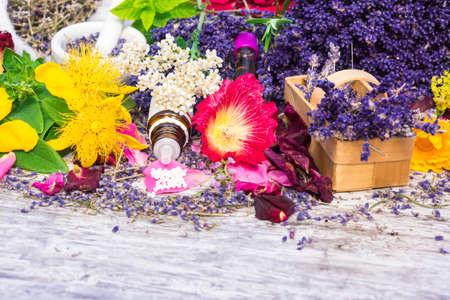 Medicinal plants, globules, Homeopathy