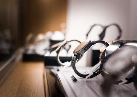 Photo pour Wrist Watches in a luxury store - image libre de droit