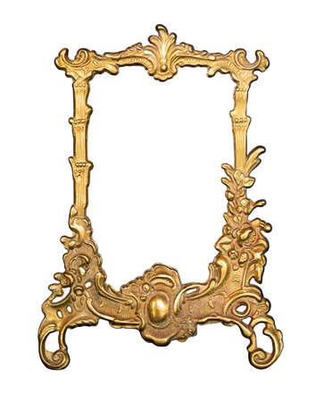 Photo pour Golden vintage frame for painting or mirror - image libre de droit