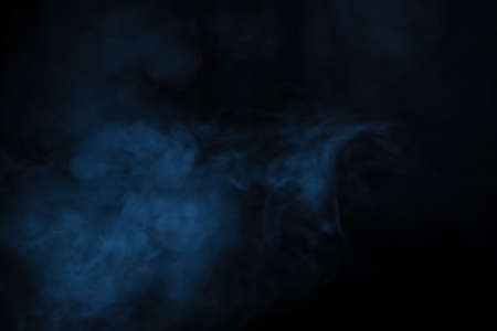 Photo for Abstract Smoke on black Background - Royalty Free Image