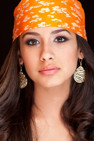Beautiful Young Woman wearing a Bandana