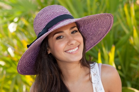 Photo for Beautiful Young Woman in South Beach in Miami - Royalty Free Image