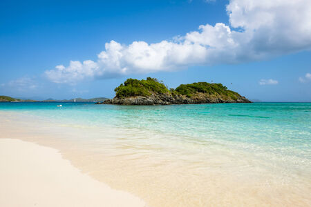Beautiful pristine Carribean beach in Saint John in the United States Virgin Islands.