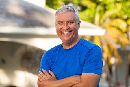 Handsome middle age man outdoor portrait