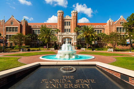 Tallahassee FL USA  October 10 2010: The beautiful red brick administration building of the Florida State University.