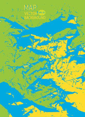 Stylized map background vector illustration, travel map