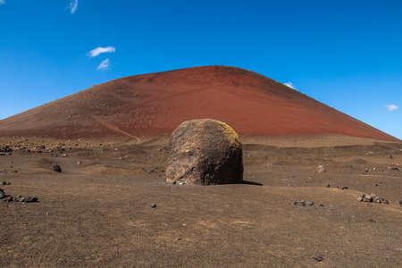 Montana Colorada in Lanzarote, Canary Islands, Spain.