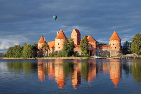 Trakai Island Castle in winter. Trakai, Lithuania.
