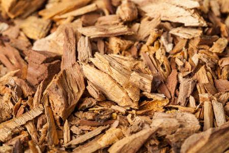 Foto de Agarwood, also called aloeswood, aloes, incense chips - Imagen libre de derechos
