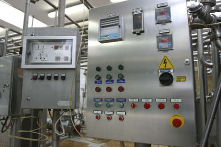 industrial control system in modern dairy factory