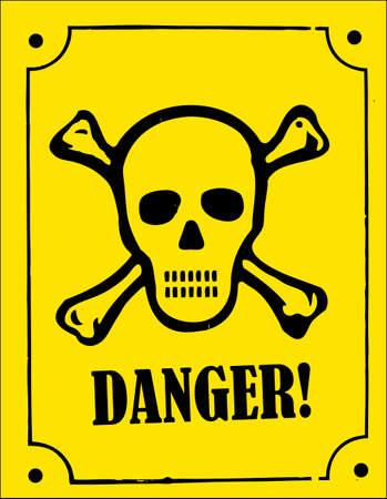 a skull and crossbones danger sign