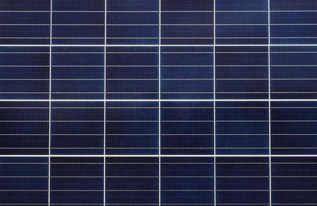 Photo pour Close-up full frame view of a solar panel assembly for supply solar electricity to electrical equipment - image libre de droit
